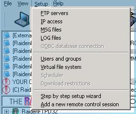 ftp server remote control